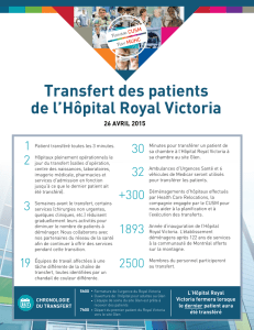 Transfert des patients de l`Hôpital Royal Victoria