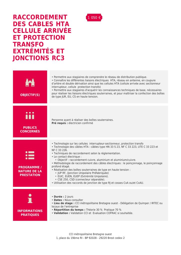 Guide de raccordement du transformateur