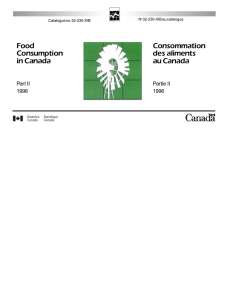 Food Consumption in Canada Consommation