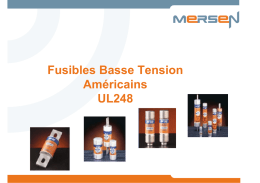 Fusibles Basse Tension Américains UL248