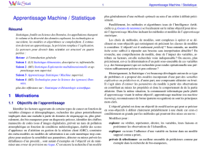 Apprentissage Machine / Statistique