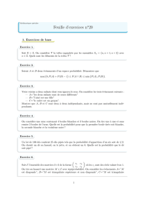 Feuille d`exercices n o20