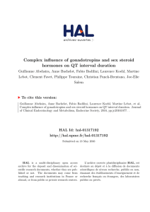 Complex influence of gonadotropins and sex steroid hormones on