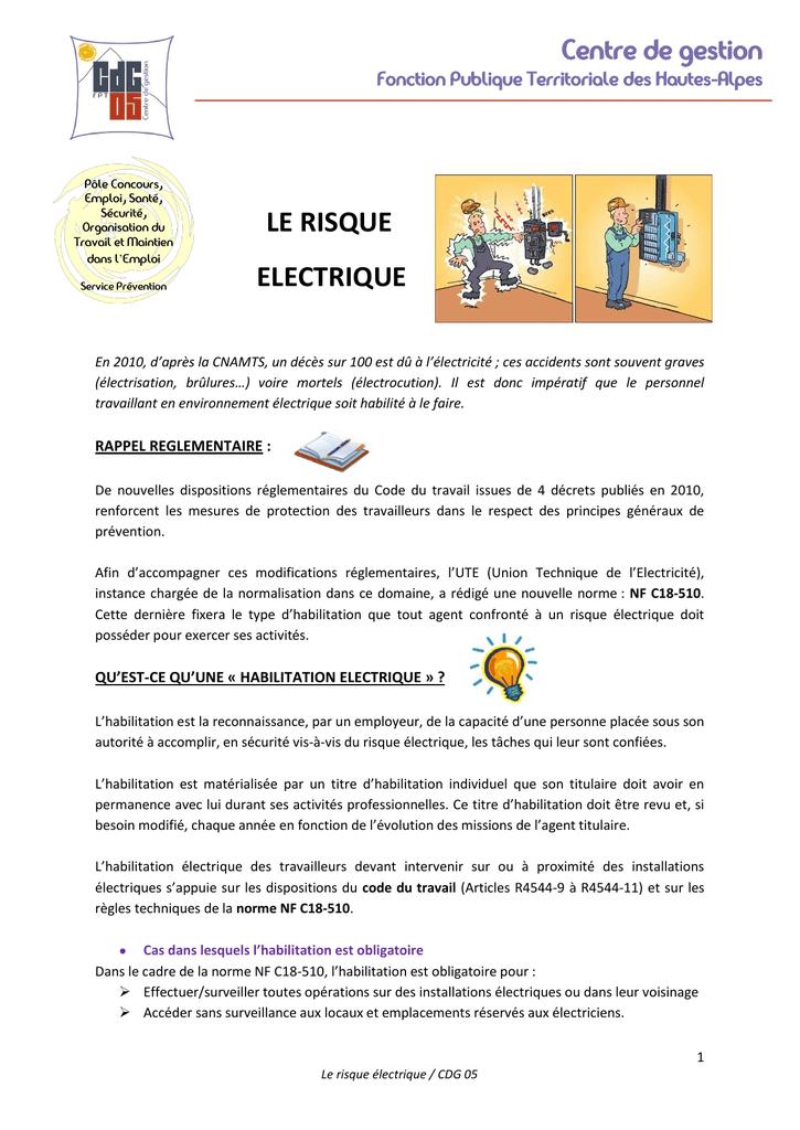 code du travail electricite