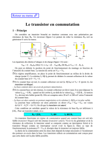 Le transistor en commutation