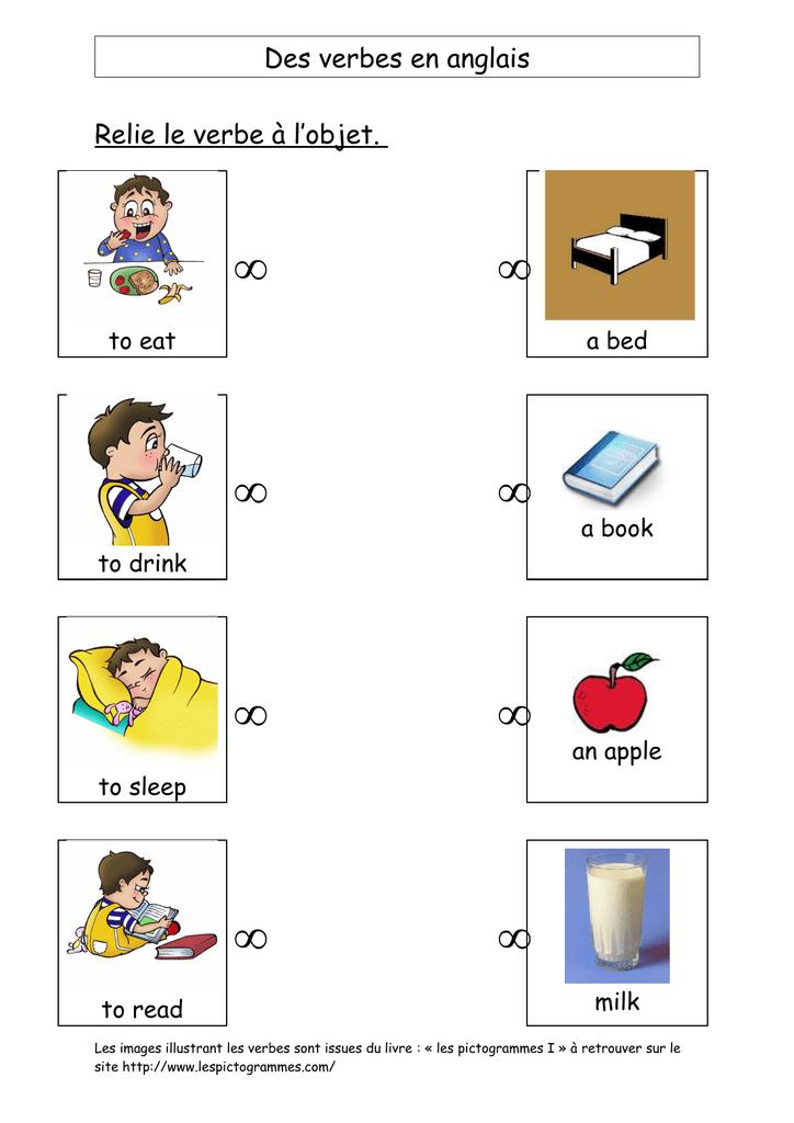 Des Verbes En Anglais