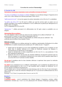 Correction des exercices d`immunologie 1
