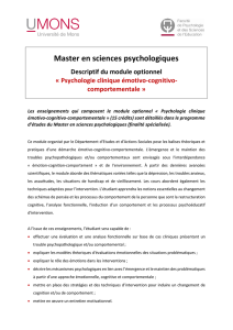 Psychologie clinique émotivo-cognitivo-comportementale