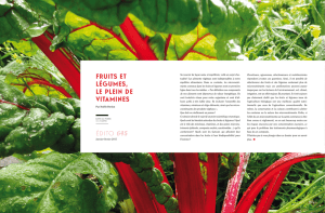 FRUITS ET LÉGUMES, LE PLEIN DE VITAMINES