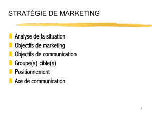 STRATÉGIE DE MARKETING Analyse de la situation - Publici