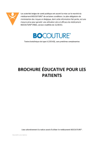 BROCHURE ÉDUCATIVE POUR LES PATIENTS