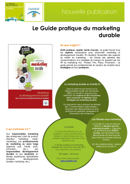Le Guide pratique du marketing durable