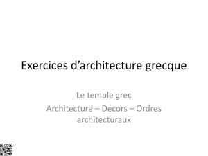 Plan du temple grec