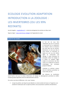 ECOLOGIE EVOLUTION A INTRODUCTION A LA ZO LES