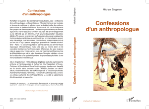 Confessions d`un anthropologue
