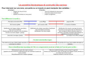 La construction des exercices