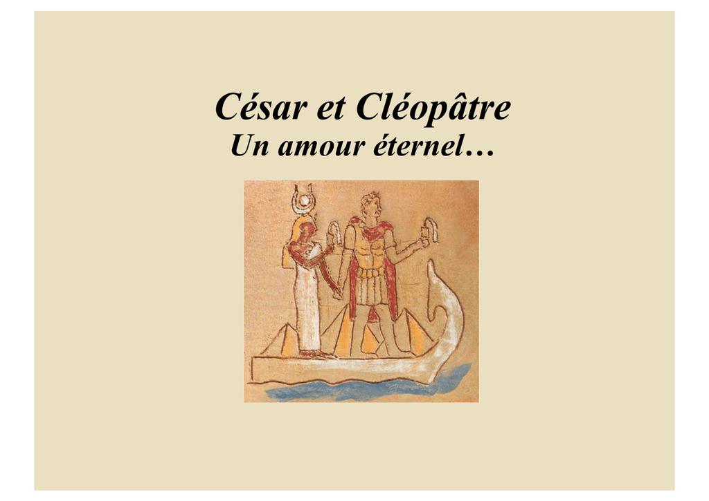 rencontre marc antoine et cleopatre