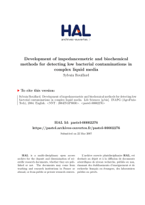 Development of impedancemetric and biochemical methods for