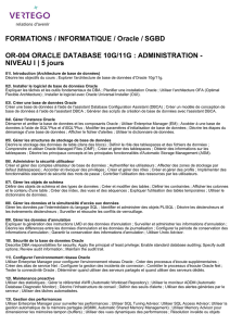 FORMATIONS / INFORMATIQUE / Oracle / SGBD OR-004