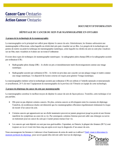 Document d`information - Action Cancer Ontario