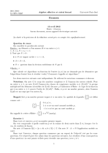 Examen - Université Paris-Sud