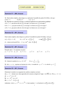 [ ] ] [ COMPLEXES : EXERCICES