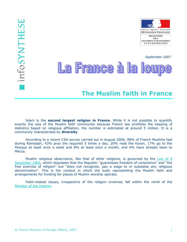 Culte musulman en France