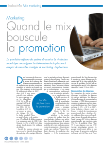 Marketing : Quand le mix bouscule la promotion