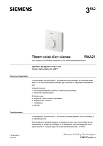 3562 Thermostat d`ambiance RAA21