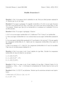 Feuille d`exercices 5
