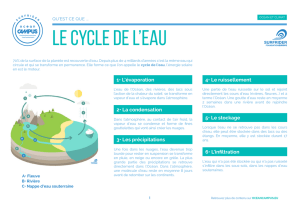 le cycle de l`eau
