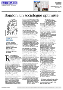 Bouden, un sociologue optimiste
