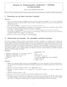 "Examen en ""Programmation Applicative"""