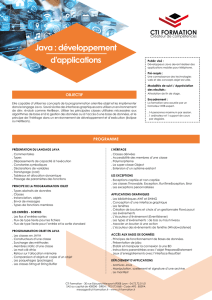 Java : développement d`applications
