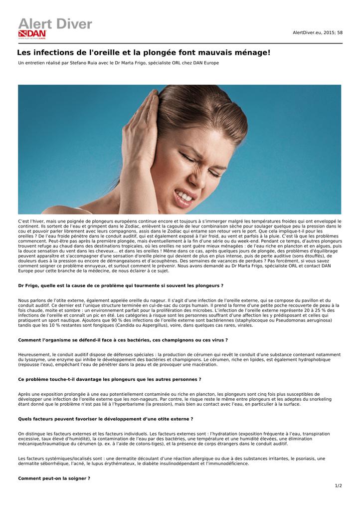 f98f2b28bad Les infections de l`oreille et la plongée font mauvais ménage!
