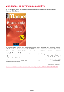 Université - Mini-Manuel de psychologie cognitive