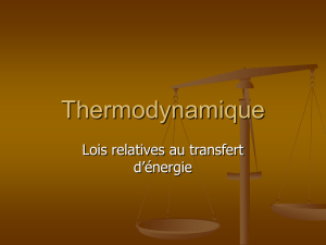 Thermodynamique ppt