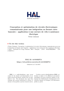 Conception et optimisation de circuits électroniques communicants
