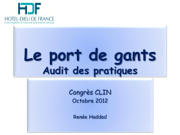 Audit Port de gants HDF