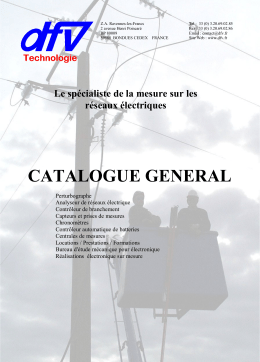 catalogue 2009-5 - DFV Technologie