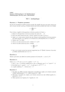 SERIE 2 - Les nombres PGCD - PPCM