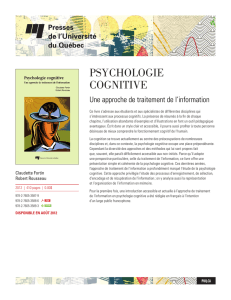 psychologie cognitive - Presses de l`Université du Québec