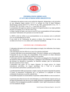 Information médicales avant des endoscopies digestives