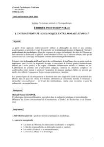 progr éthique (clinique) - Ecole de Psychologues Praticiens