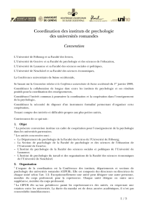 Coordination des instituts de psychologie des universités romandes