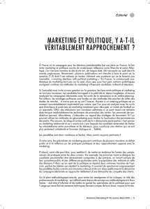 marketing et politique, y a-t-il véritablement
