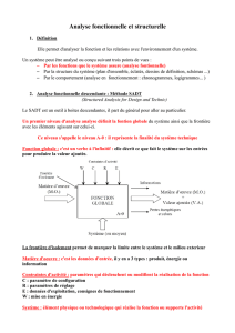Analyse fonctionnelle et structurelle