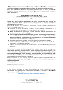 responsable de laboratoire h/f – anticorps monoclonaux