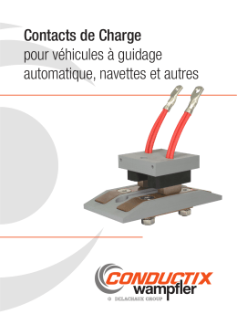 Contacts de Charge pour véhicules à guidage automatique