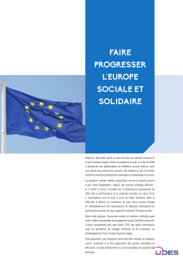 faire progresser l`europe sociale et solidaire